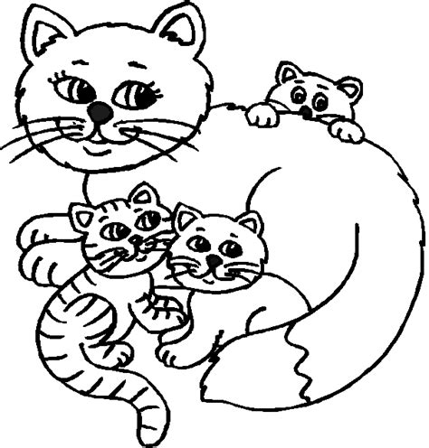 bild galeria  coloring pages cats kittens