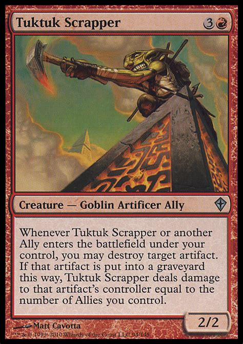 goblin commander deck wort tuktuk scrapper magic the gathering card info
