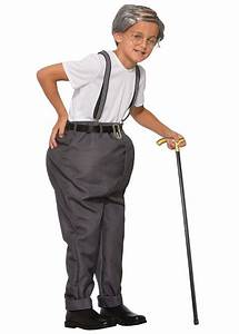 Old Man Boys Costume - Funny Costumes