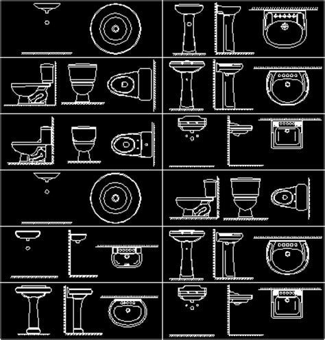 bathroom accessories cad blocks bathroom fittings in autocad drawing bibliocad