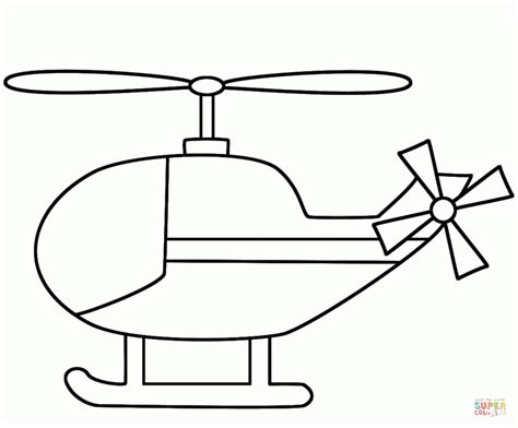 simple helicopter coloring page  printable coloring