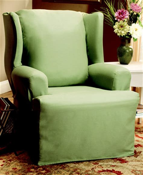sure fit duck wing chair slipcover slipcovers for the