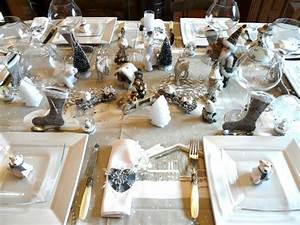 Table De Noel Blanche : table noel lumineux deco de tables ~ Carolinahurricanesstore.com Idées de Décoration
