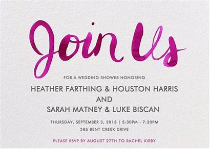 Calico Studio Shower Bridal Team Invitation Designed