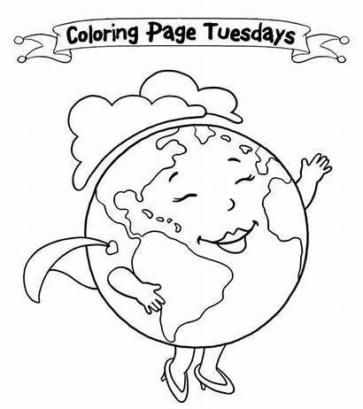 Earth Coloring Pages Printable Drawing Colouring Toddlers