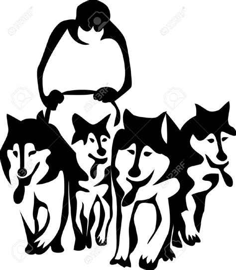 Dogsled clipart - Clipground