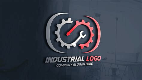 modern industrial logo design  template graphicsfamily