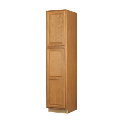 Pantry Cabinets Lowes by Shop Kitchen Classics 7 Ft X 18 In X 24 In Portland Oak