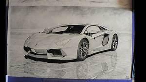 Lamborghini Aventador charcoal drawing. - YouTube