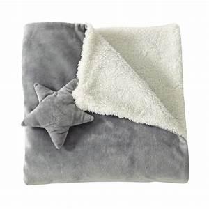 Plaid Maison Du Monde : plaid enfant en tissu gris 65 x 65 cm ast rope maisons du monde ~ Teatrodelosmanantiales.com Idées de Décoration