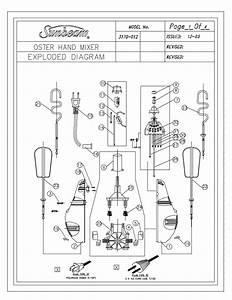 Download Free Pdf For Oster 3170 Hand Mixer Other Manual