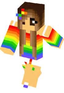 Rainbow Girl Minecraft Skin