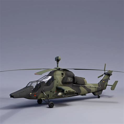 Uh Tiger Attack Helicopter 3d 3ds