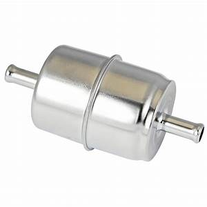 Power Products  Chrome Inline Fuel Filter  5  16 Inlet