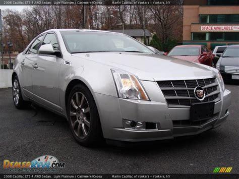 2008 Cadillac Cts Awd by 2008 Cadillac Cts 4 Awd Sedan Light Platinum