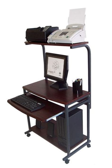 laptop desk with printer shelf sts 7801 compact portable computer desk w hutch shelf