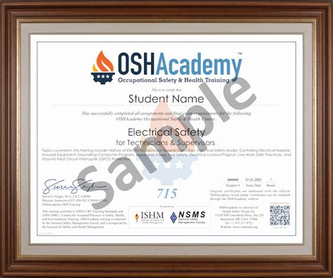 electrical safety  technicians supervisors oshacademy