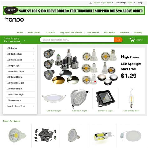 10 led lights at ranpo lighting when using coupon