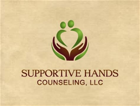 supportive hands counseling llc logo design hourslogocom
