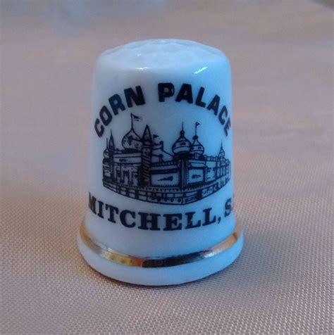 corn palace thimble mitchell south dakota vintage souvenir collectible  craft supply