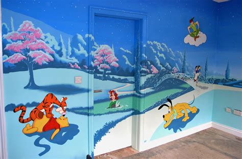 disney murals for nursery baby nursery decor top designs ideas disney baby nursery murals thinkerbell pan