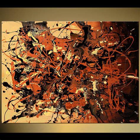 painting splash brown and beige chaos splash 5750