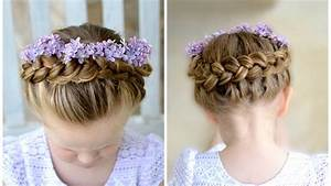 Flower Girl Hairstyle, Dutch Crown Braid - YouTube