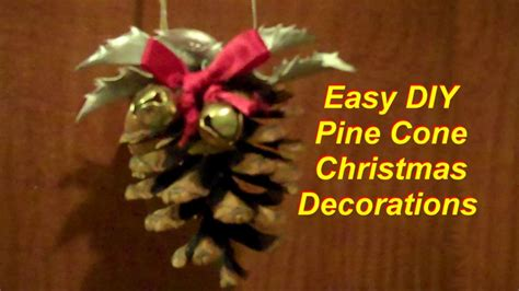 quick  easy pine cone christmas decorations youtube