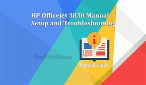 Hp Officejet 3830 Manual Setup And Troubleshooting