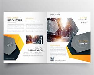 Modern Abstract Bifold Business Brochure Template Or