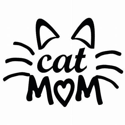 Mom Cat Decal Sticker Tattoo Checkered Windshield