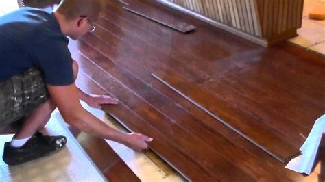 Installing a Floating Wood Floor   YouTube