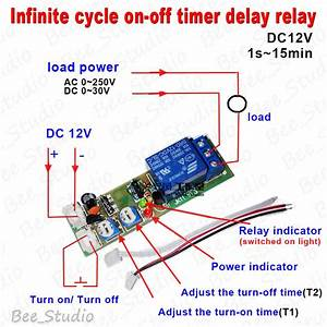 Dc 12v Infinite Cycle Delay Timing Timer Relay On Off