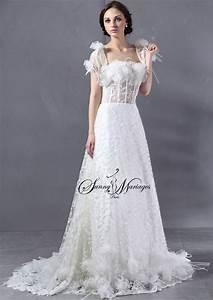 Robe De Mariée Originale : robe de mariee originale avec bustier plume d 39 autruche et ~ Nature-et-papiers.com Idées de Décoration
