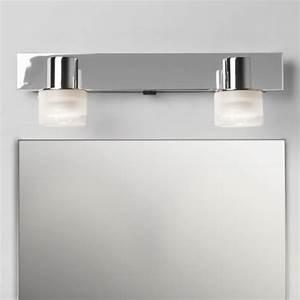 spot double pour eclairage de dessus de miroir de salle de With spot miroir salle de bain avec interrupteur