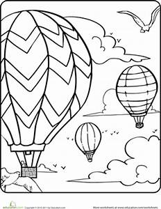 hot air balloons in the sky worksheet educationcom With hotairschematic
