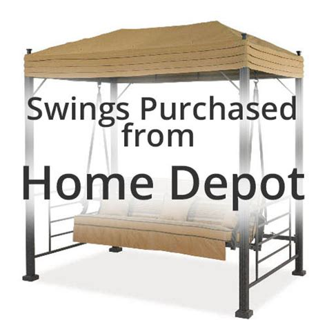 Patio Canopy Swing Home Depot by Replacement Swing Canopy Cover Garden Winds