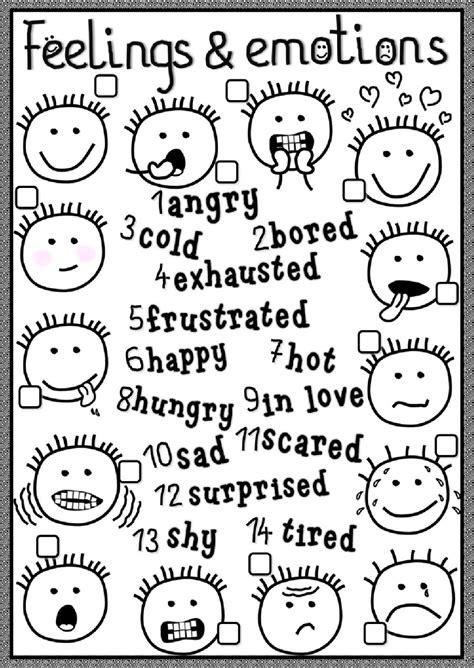 Feelings And Emotions Interactive Worksheet