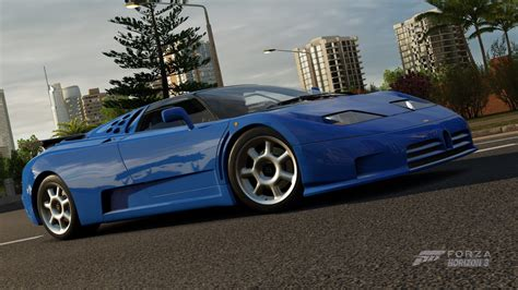 The eb110 gt is a passenger car from bugatti, with all wheel drive, a mid located engine and a 2 door coupé body style. Forza Horizon 3 - Cars