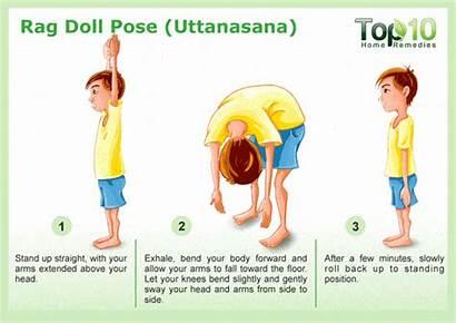 Yoga Pose Doll Rag Poses Uttanasana Healthy