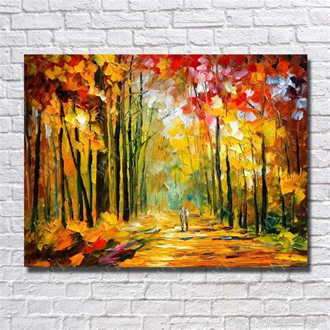 2019 Large Canvas Paintings Knife Tree Landscape Oil