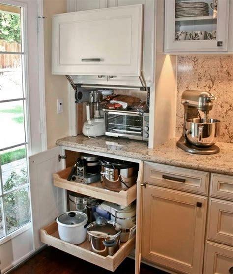 small kitchen cupboard storage ideas 42 creative appliances storage ideas for small kitchens