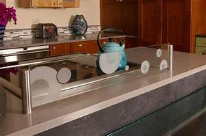 Contemporary Kitchen in Salem - glass, etched glass by