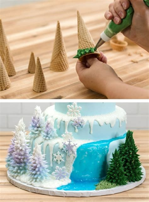 le gateau reine des neiges  idees originales