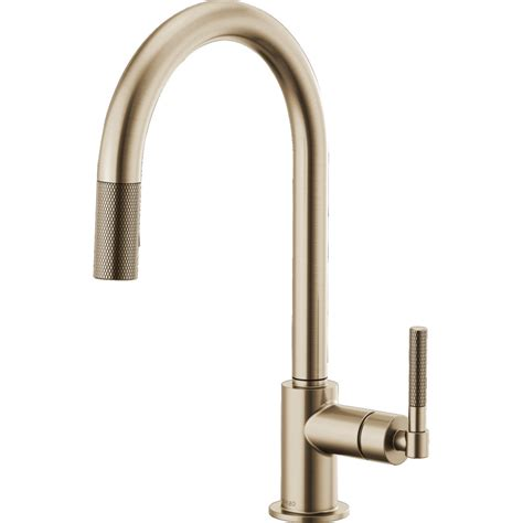 kitchen sink faucet combo brizo 63043lf gl litze luxe gold pullout spray kitchen