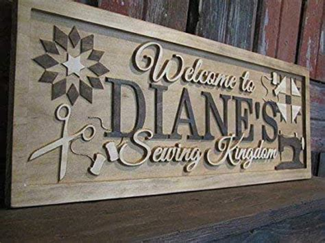 amazoncom  custom sewing quilters room sign wooden