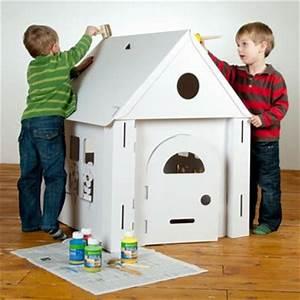 Cabane En Carton À Colorier : maison en carton colorier calacasa calafant jouet bebe ~ Melissatoandfro.com Idées de Décoration
