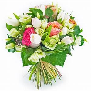 Bouquet De Fleurs : livraison bouquet de fleurs tons pastel rose blanc entrefleuristes ~ Teatrodelosmanantiales.com Idées de Décoration