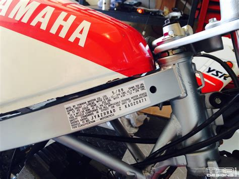 Yamaha Motorcycle Vin Number Location