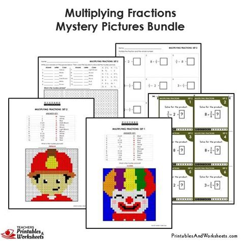 4th grade multiplying fractions mystery pictures coloring worksheets printables worksheets